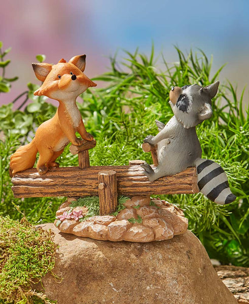 Fred/Fox & Ricky/Raccoon Garden Statue