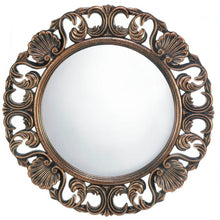 Ornate Wood Frame Wall Mirror
