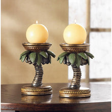 Palm Tree Candle Holders