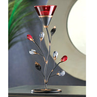 Romantic Red Blossom Tealight Holder