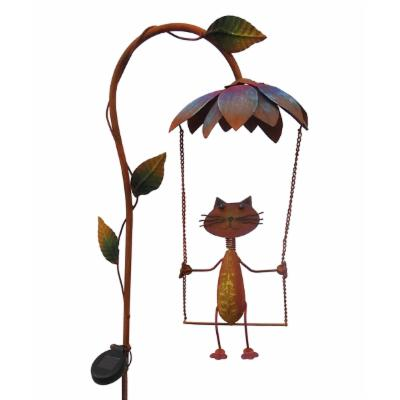 Rustic Metal Solar Lighted Swinging Critters