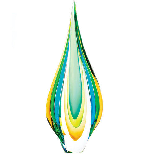 Teardrop Art Glass Sculpture - 18 Inches