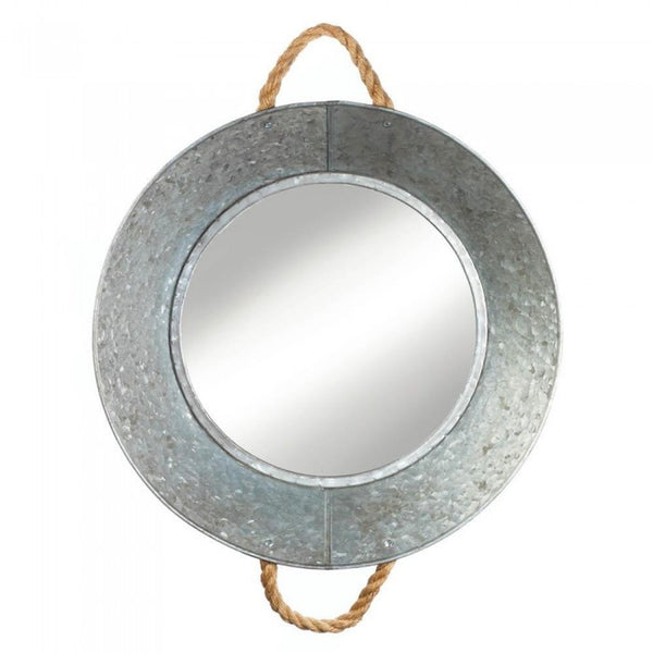 Tin Mirror with Ropes