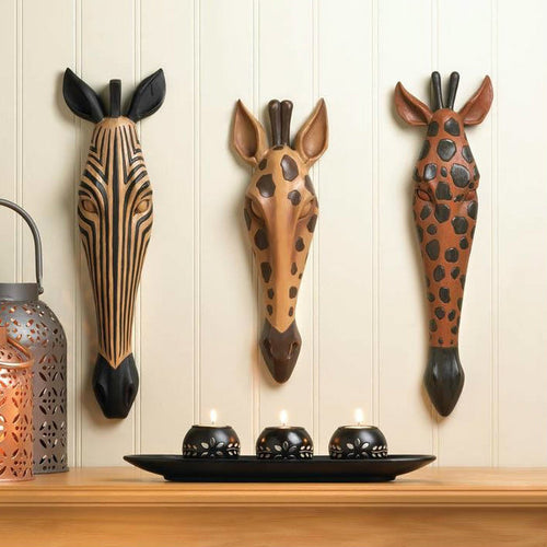 Animal Head Tribal Wall Plaques