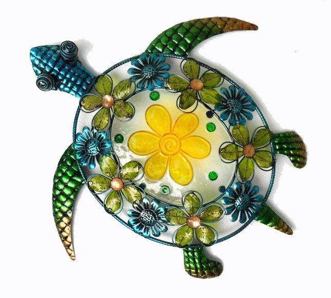 Acrylic, Glass and Metal Sea Turtle