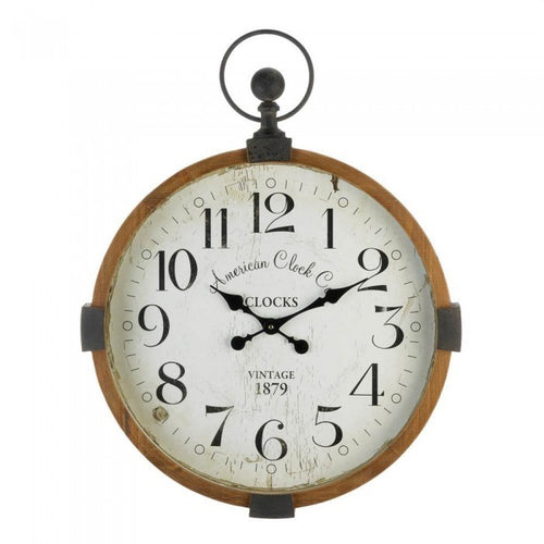 Vintage Look Stop Watch Wall Clock