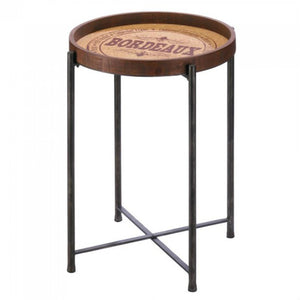 Wine Bordeaux Side Table