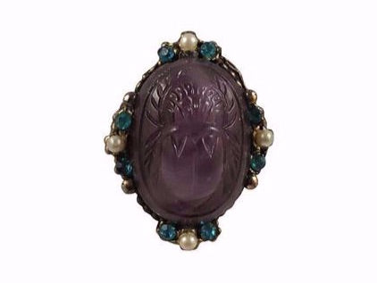 A 1920s scarab ring