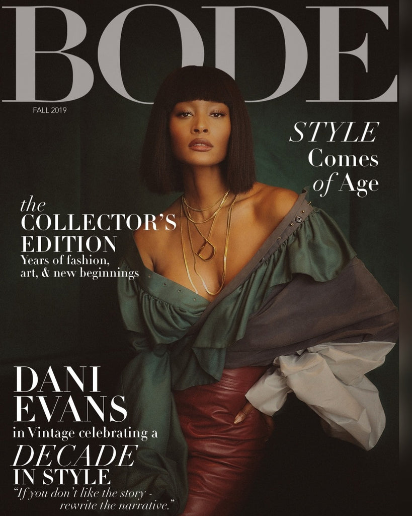 Bode Magazine Cover showing our vintage Christian Dior necklace