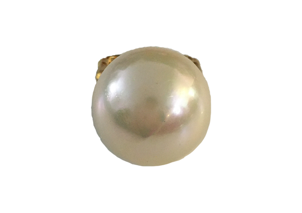 Vendome Gold Metal and Faux Pearl Ring