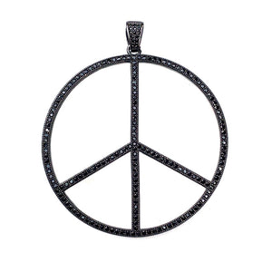 large black peace sign