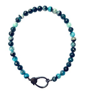 stephanie mixed blue agate