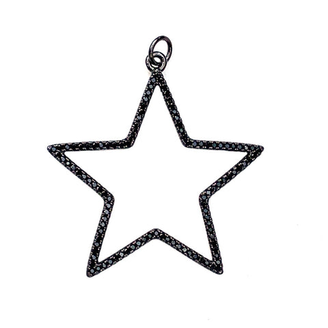 black open star pendant