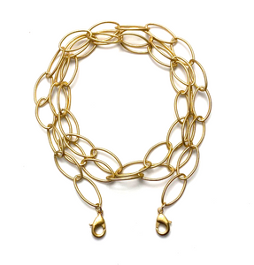 mask chain - gold oval