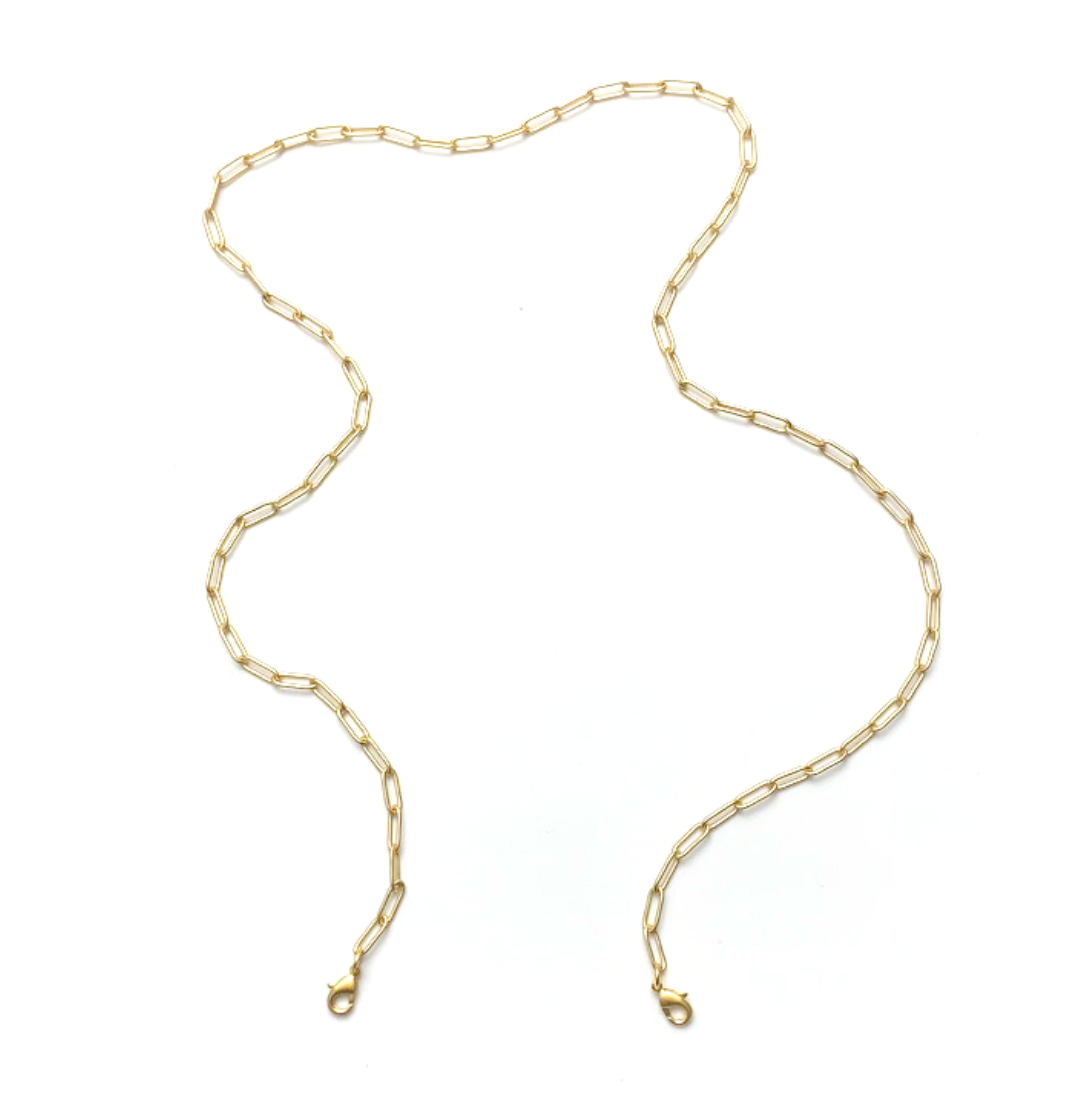 mask chain - gold paperclip