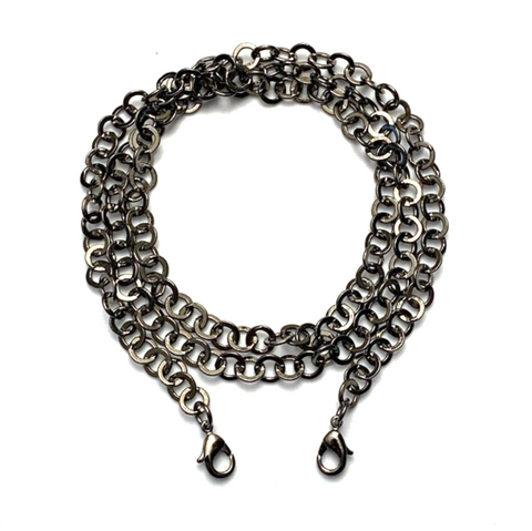 mask chain - gunmetal rolo