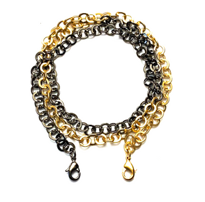 mask chain - mixed metal rolo