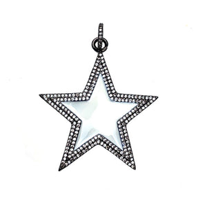 white enamel star