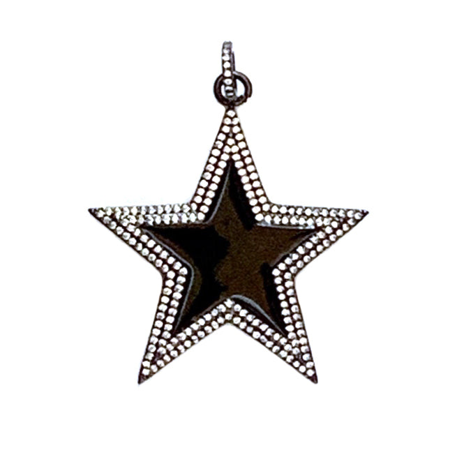 black enamel star
