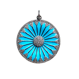 bright blue daisy