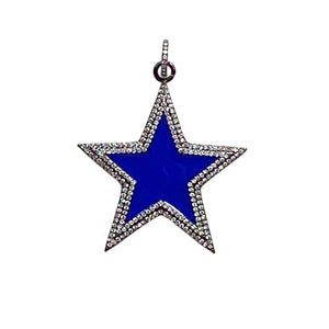 royal blue enamel star