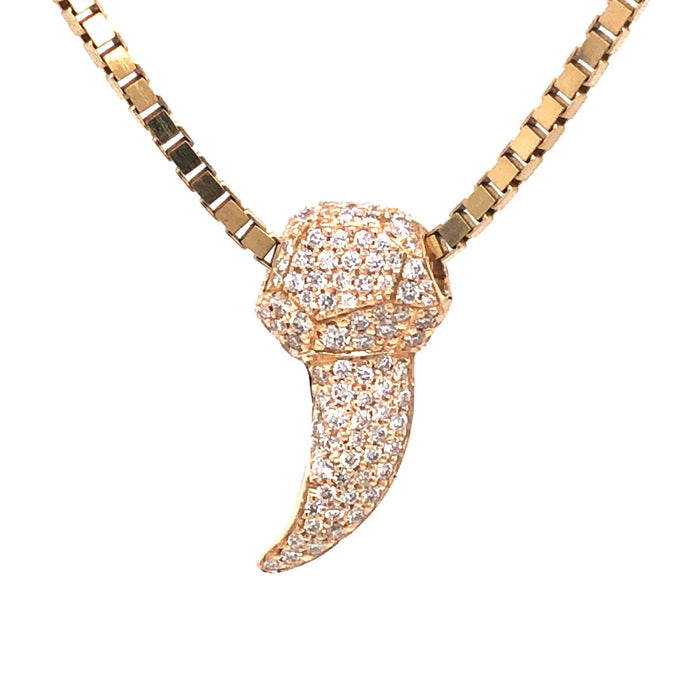 White Diamond Encrusted Coyote Claw