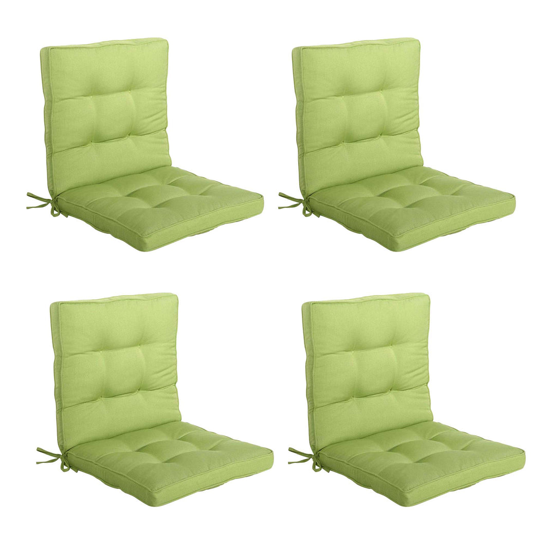 Bossima Midback Outdoor Cushion - Lime Green (Set of 4)