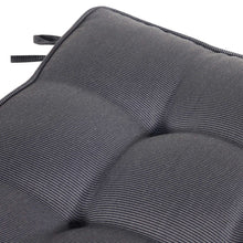 Cabana Outdoor Seat Pad Cushion - Black Grey (Set of 4)