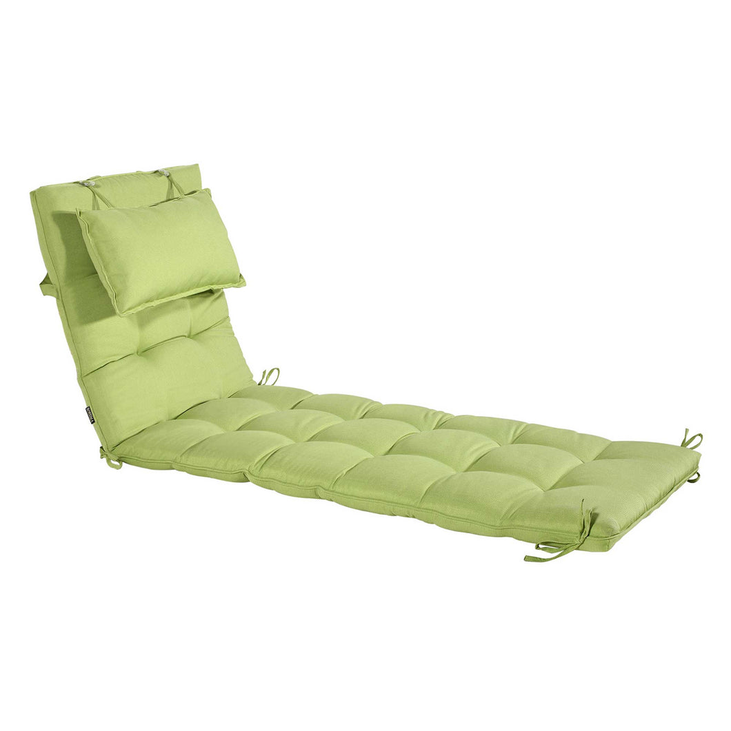 Cabana Outdoor Sun Bed Cushion with Pillow Online - Kiwi Green