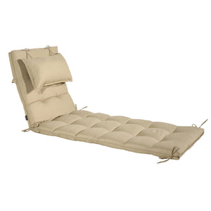 Cabana Outdoor Sun Bed Cushion with Pillow Online - Sandstone