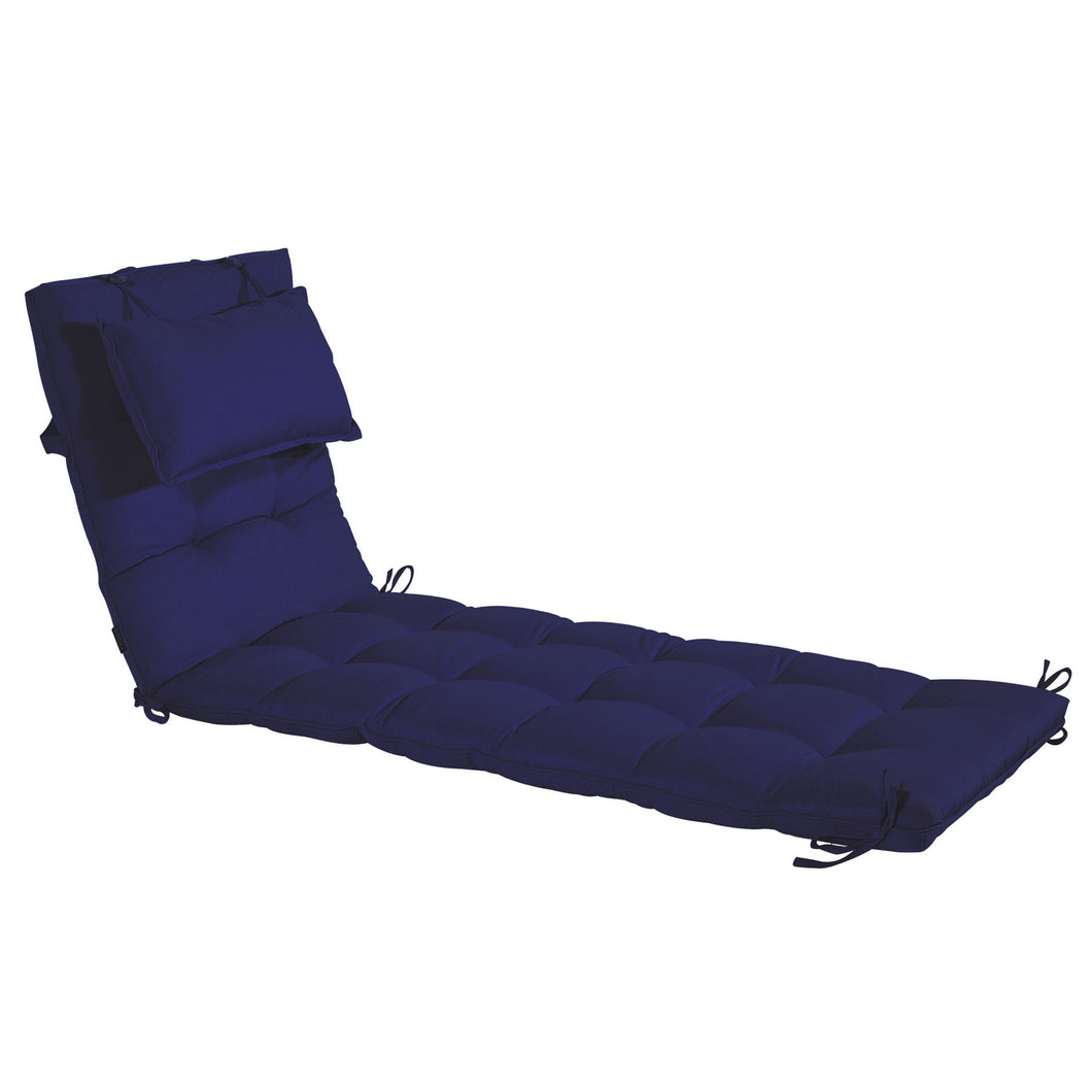 Cabana Outdoor Sun Bed Cushion with Pillow Online - Navy Blue