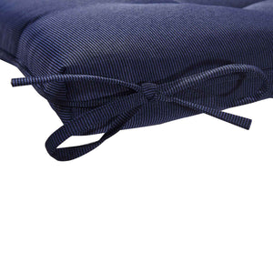 Cabana Outdoor Sun Bed Cushion with Pillow - Navy Blue