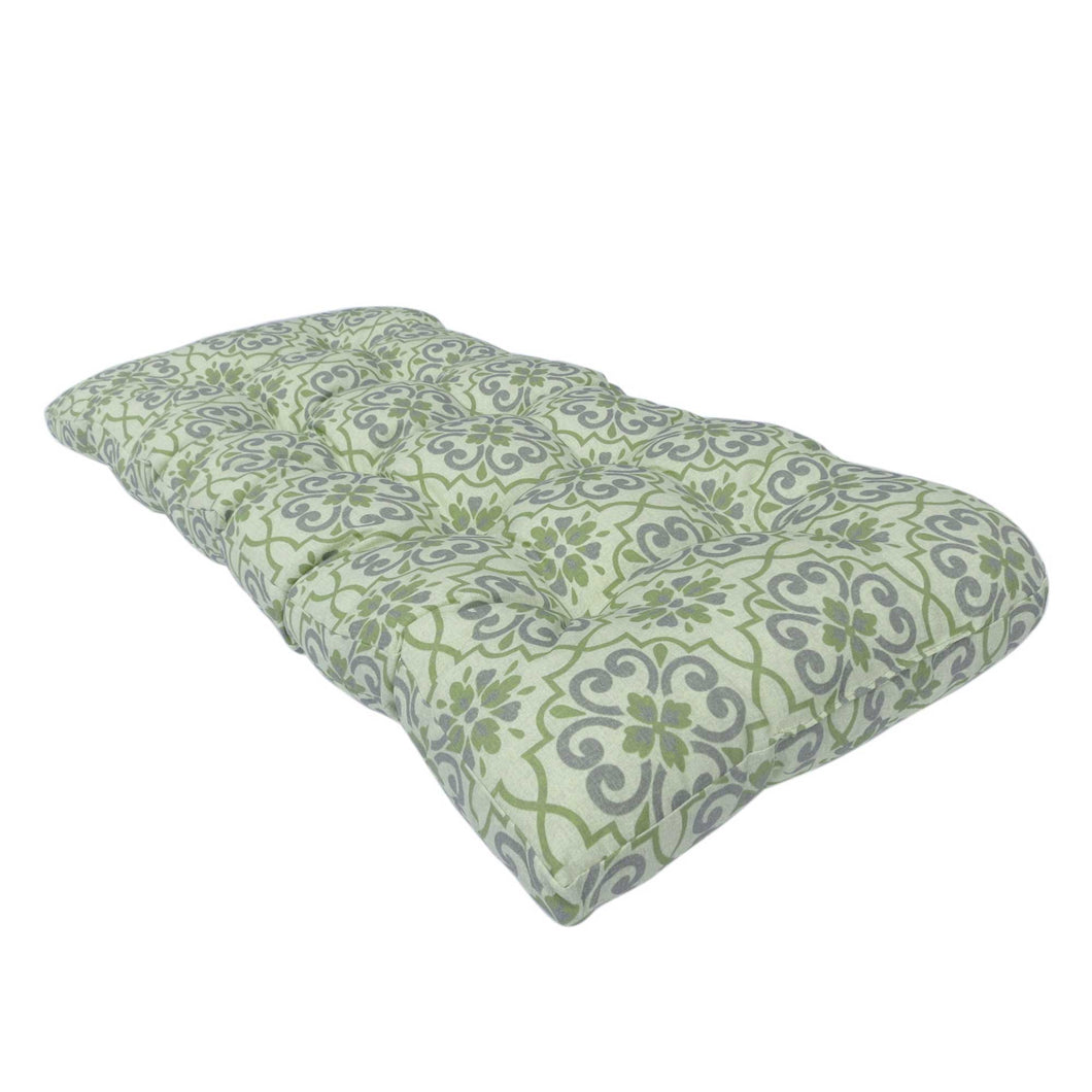 Bossima Lovebird Outdoor Bench Cushion 120cm - Green Floral