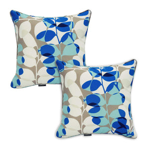 Set of 2 Bossima Blue Floral Outdoor Scatter Cushion Pad