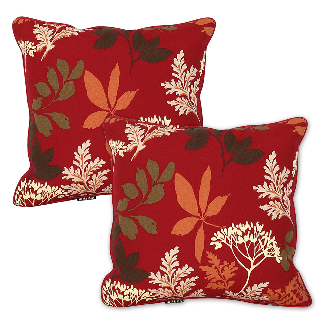 Set of 2 Bossima Red Floral Outdoor Scatter Cushion Pad