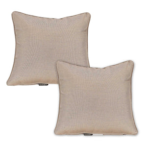 Buy Online Set of 2 Heather Beige Outdoor Sunbrella Scatter Cushions