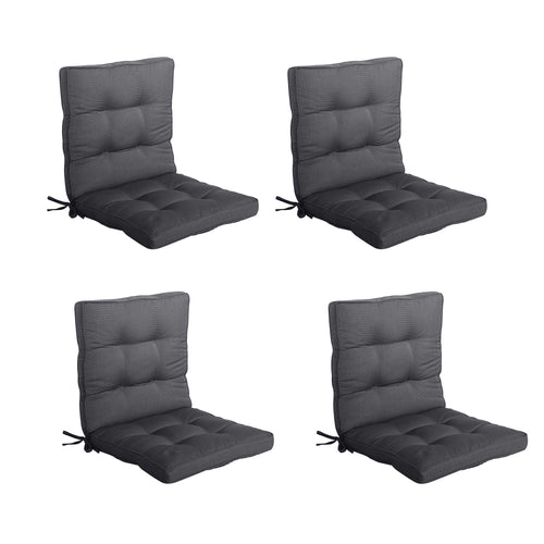 Bossima Tahiti Midback Outdoor Cushion - Black Grey (Set of 4)