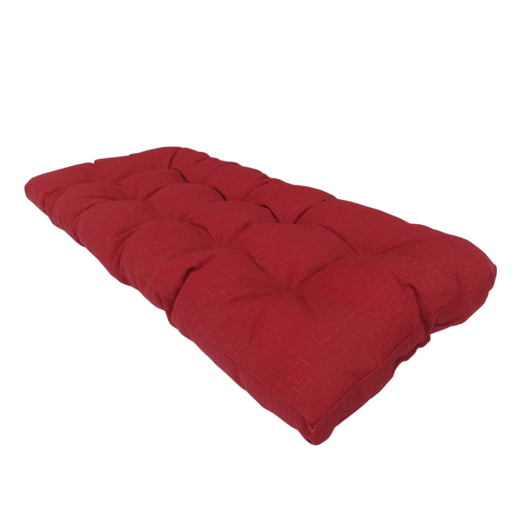 Bossima Lovebird Outdoor Bench Cushion Plain Red