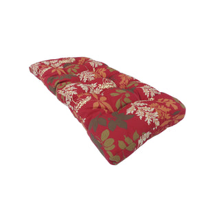 Lovebird Outdoor Bench Cushion 145cm - Red Floral