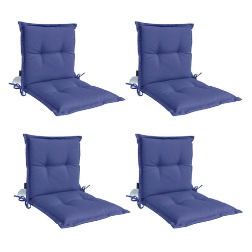 Panama Midback Outdoor Flanged Cushion - Navy (Set of 4)