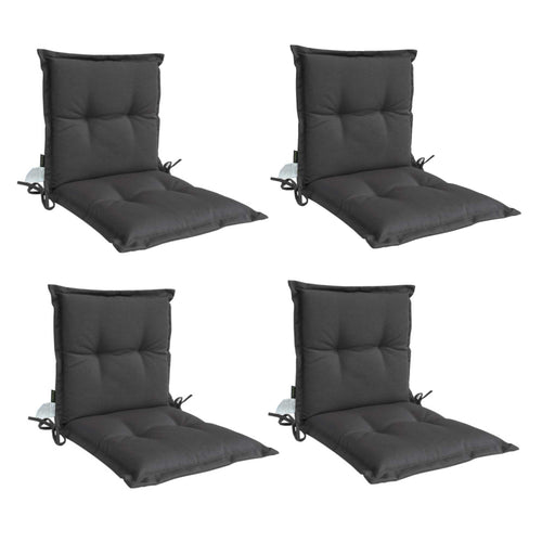 Panama Midback Outdoor Flanged Cushion - Black/Grey (Set of 4)