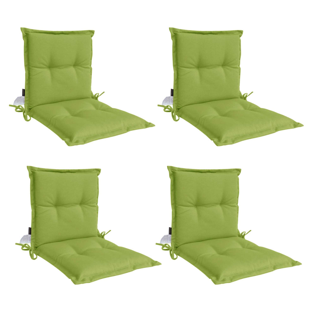 Panama Midback Outdoor Flanged Cushion - Green (Set of 4)