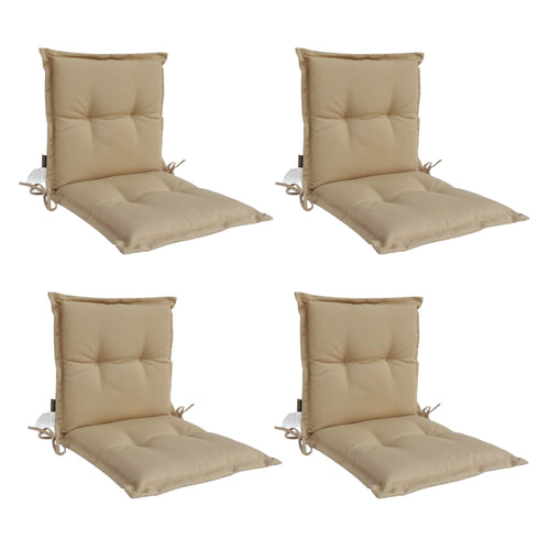 Panama Midback Outdoor Flanged Cushion - Sandstone (Set of 4)