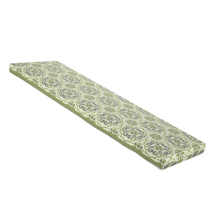 Buy Online Bossima St Barts Outdoor Bench Cushion 120cm - Green Mixed