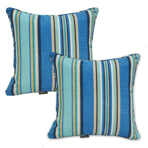 Rio Outdoor Striped Scatter Cushions (Set of 2 ) - Yellow