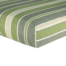 Water Resistant Deep Seat Cushion Pad - Green Striped