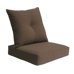 Outdoor Deep Seat Cushion with Button Set - Coffee