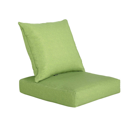 Bossima Deep Seat Cushion Back & Seat Pad Set - Green