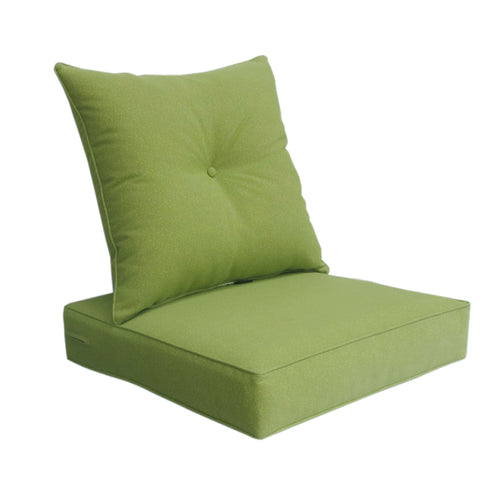 Outdoor Deep Seat Cushion with Button Set - Green
