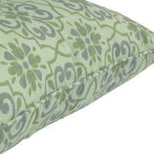 Gala Deep Seat Cushion with Button Set - Green Mix